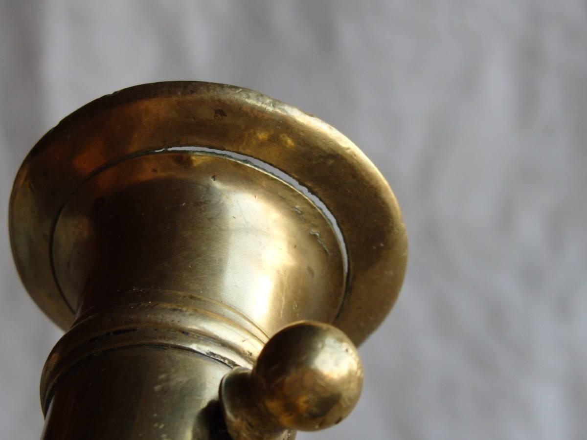 フランスアンティーク キャンドルスタンド ブロンズ 青銅 ゴールド 蝋燭立て 燭台 ブロカント 蚤の市 上下可動 インテリア 装飾_画像8