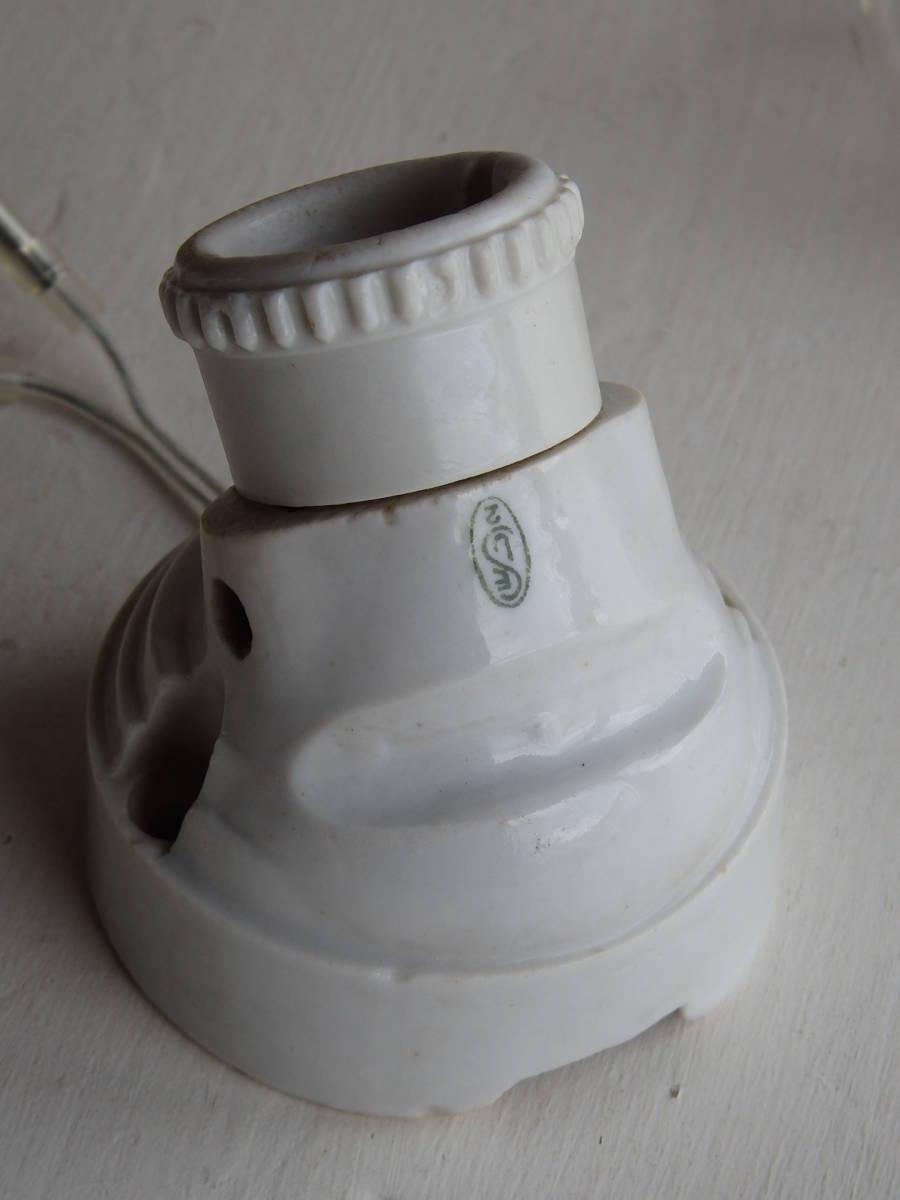 フランスアンティーク 陶器 ライト 壁付け ウォール インダストリアル アトリエ 工業系 ランプ 電気 照明 蚤の市 ブロカント_画像9