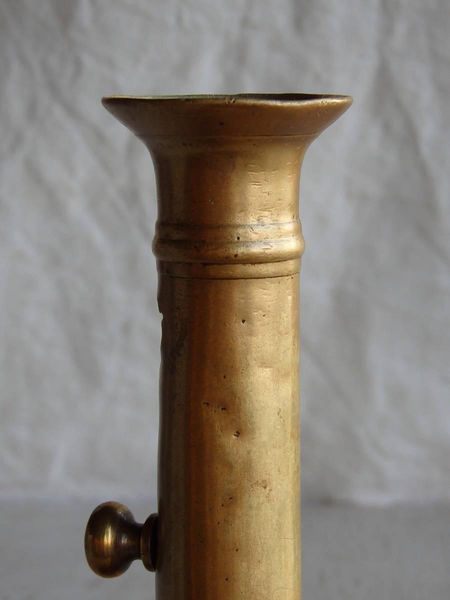 フランスアンティーク キャンドルスタンド ブロンズ 青銅 ゴールド 蝋燭立て 燭台 ブロカント 蚤の市 上下可動 インテリア _画像10