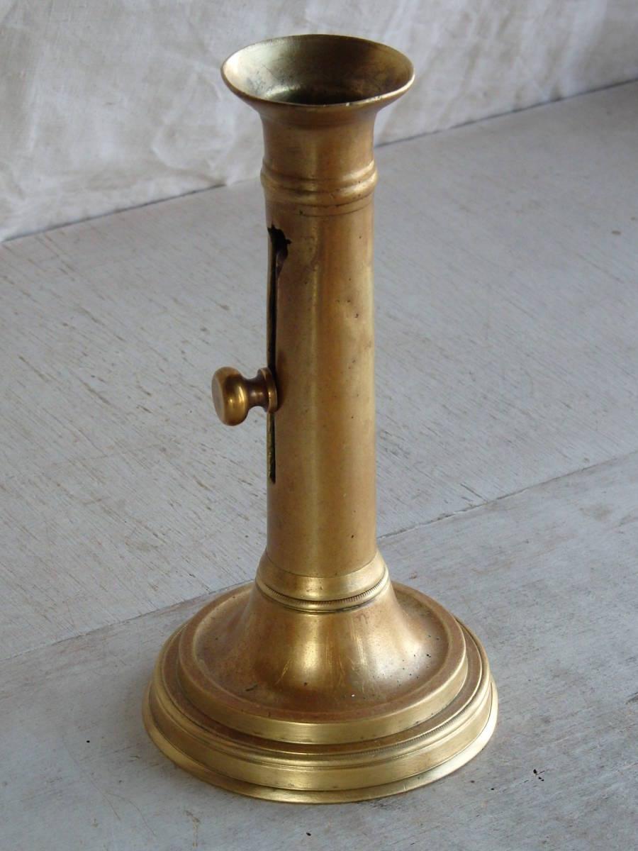 フランスアンティーク キャンドルスタンド ブロンズ 青銅 ゴールド 蝋燭立て 燭台 ブロカント 蚤の市 上下可動 インテリア _画像3