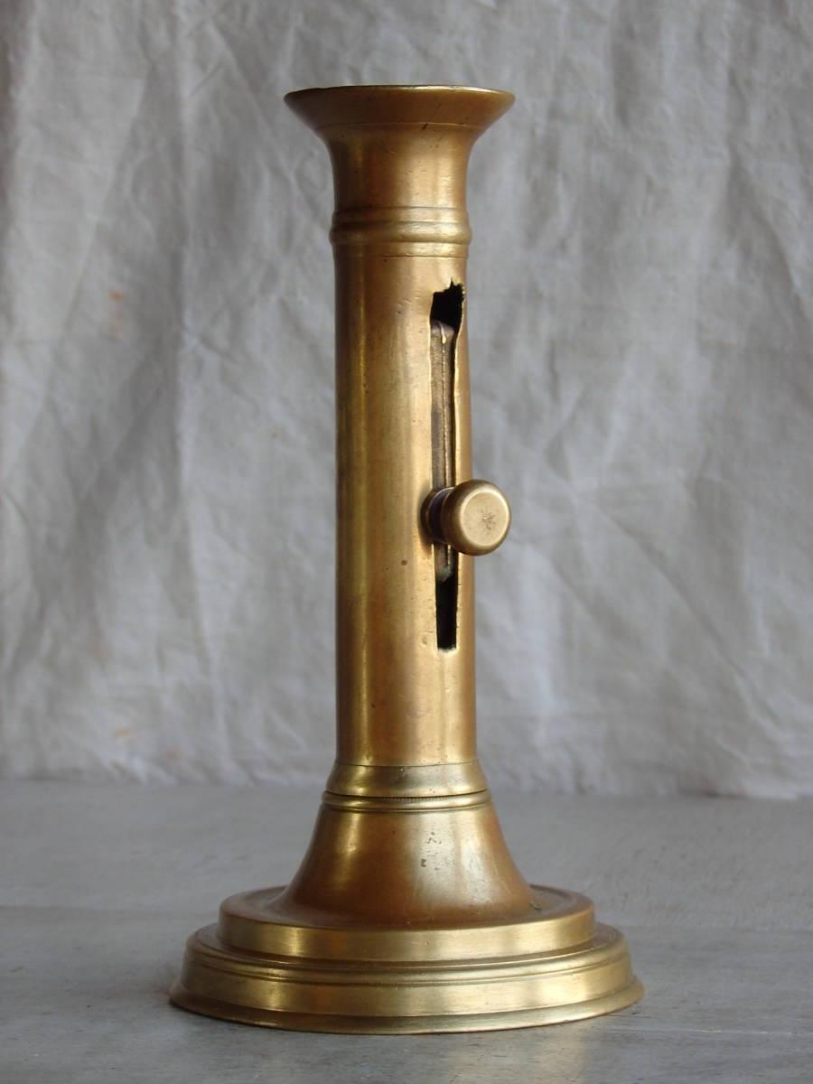 フランスアンティーク キャンドルスタンド ブロンズ 青銅 ゴールド 蝋燭立て 燭台 ブロカント 蚤の市 上下可動 インテリア _画像1