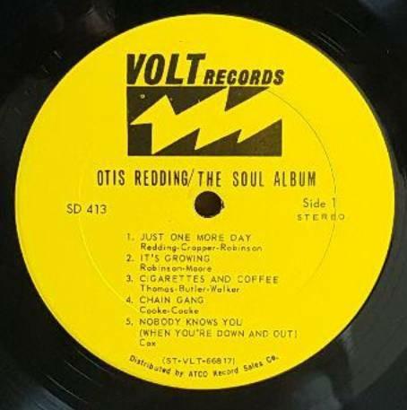【LP美盤】OTIS REDDING THE SOUL ALBUM (USオリジナル)