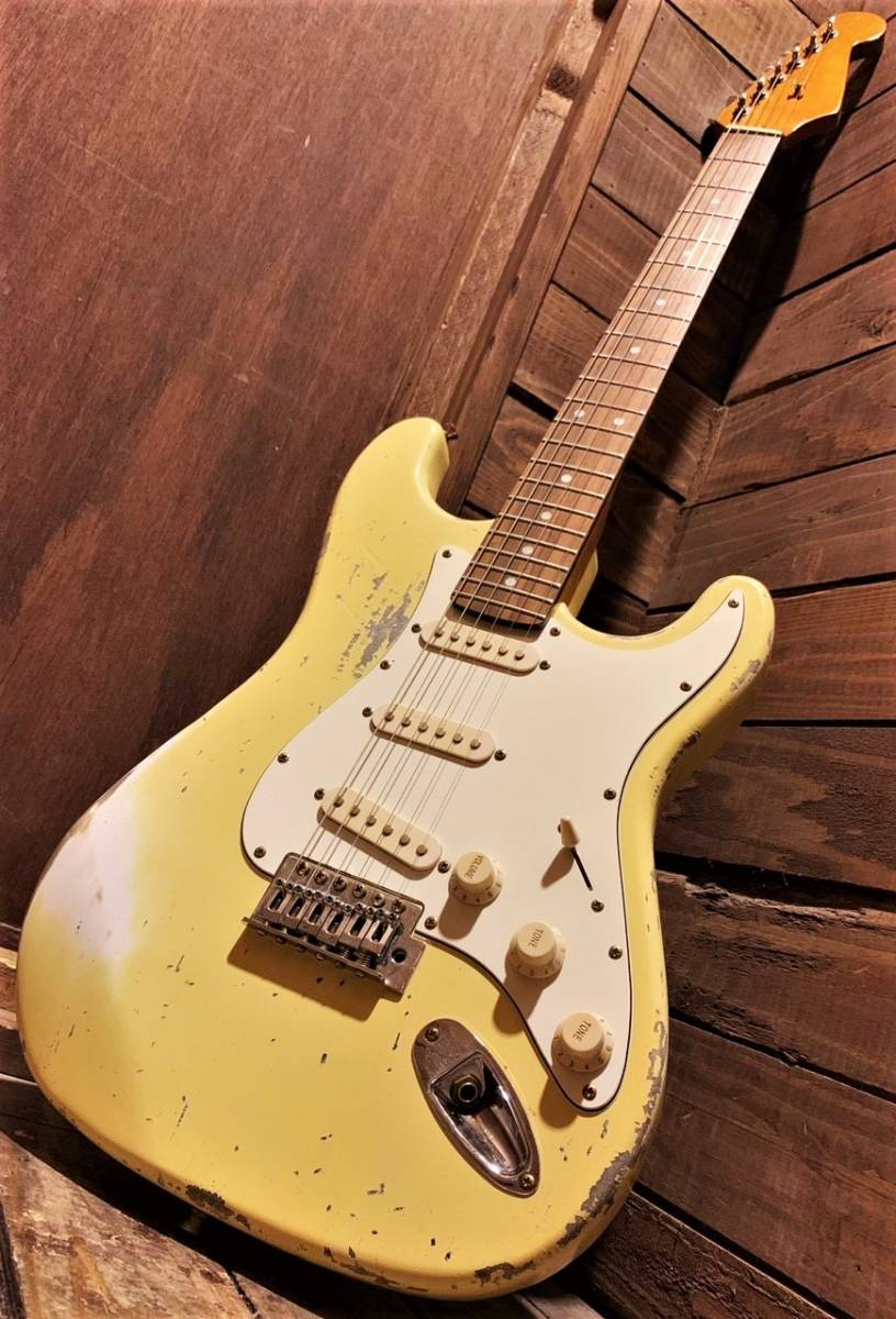 【Aged&Relic Custom/Stratocaster/Aged Olympic White/ストラト/エレキギター/エイジド・レリック加工/一点物】
