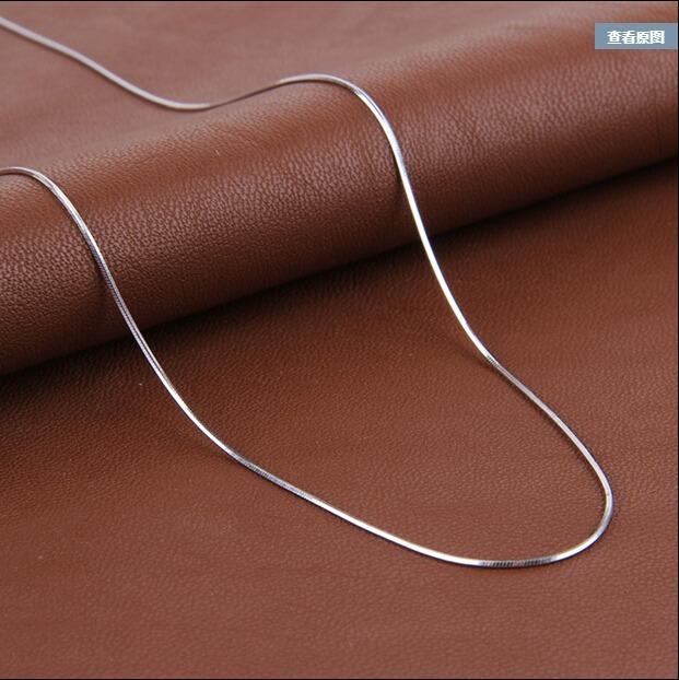 高品質 ファッションスネークチェーン 925 スターリングシルバー ladies'snake ネックレスジュエリーギフト シンプル_画像1