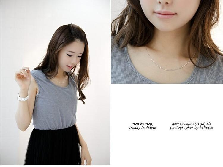 高品質 ファッションスネークチェーン 925 スターリングシルバー ladies'snake ネックレスジュエリーギフト シンプル_画像5