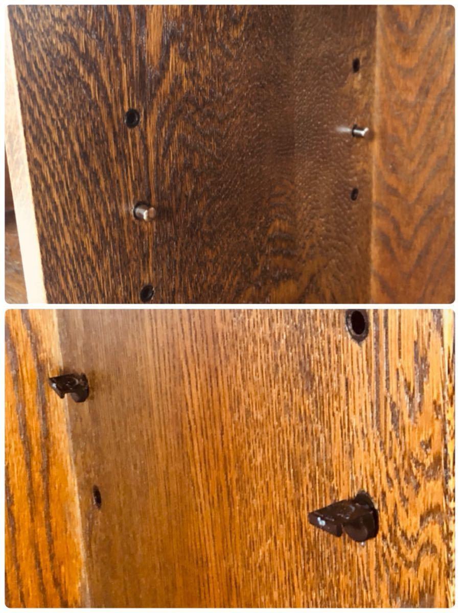 1989 三越家具 Brugge カップボード キャビネット オーク材 カップボード キッチンボード 食器棚 飾り棚 収納 アンティーク ブルージュ_画像9