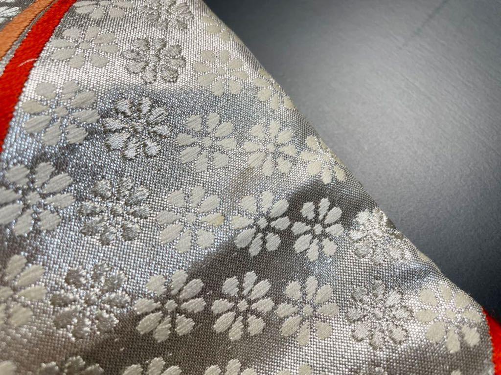 限定2本 日本刀 太刀 刀 刀袋 豪華 銀彩 華紋 刀袋 職人ハンドメイド 100%正絹使用 一点物 A-10_画像10