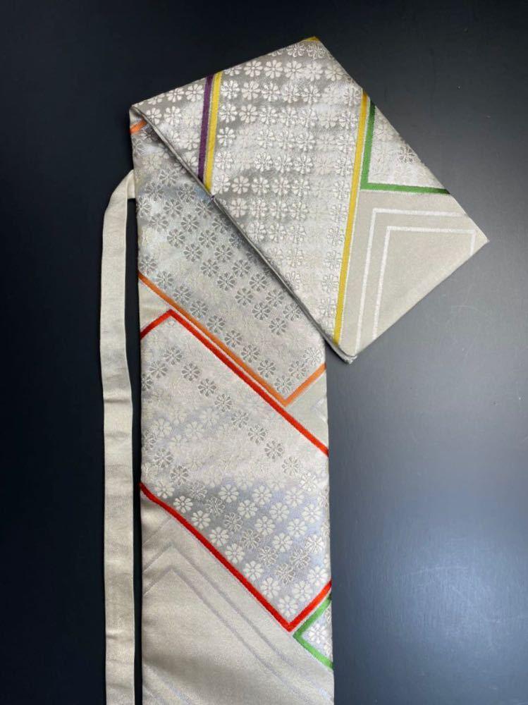 限定2本 日本刀 太刀 刀 刀袋 豪華 銀彩 華紋 刀袋 職人ハンドメイド 100%正絹使用 一点物 A-11_画像6