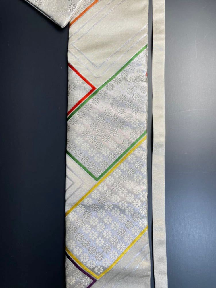 限定2本 日本刀 太刀 刀 刀袋 豪華 銀彩 華紋 刀袋 職人ハンドメイド 100%正絹使用 一点物 A-11_画像3