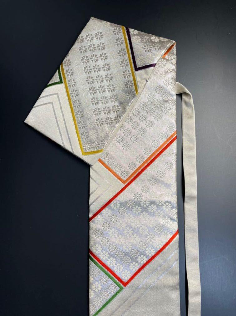 限定2本 日本刀 太刀 刀 刀袋 豪華 銀彩 華紋 刀袋 職人ハンドメイド 100%正絹使用 一点物 A-10_画像2