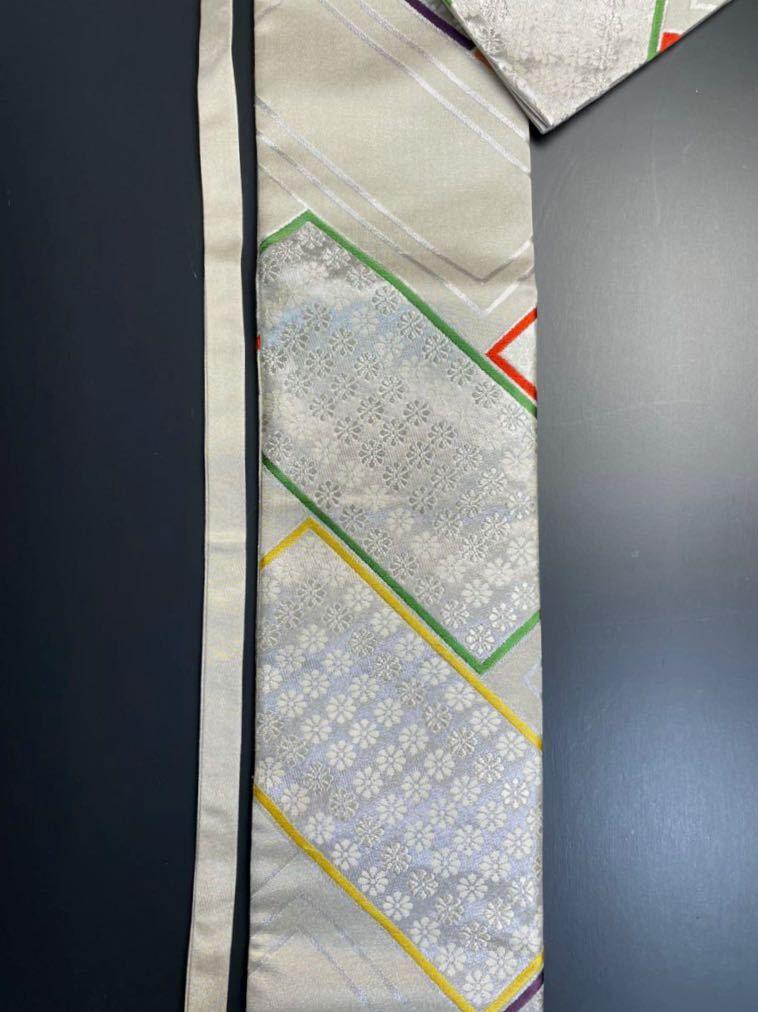 限定2本 日本刀 太刀 刀 刀袋 豪華 銀彩 華紋 刀袋 職人ハンドメイド 100%正絹使用 一点物 A-10_画像7