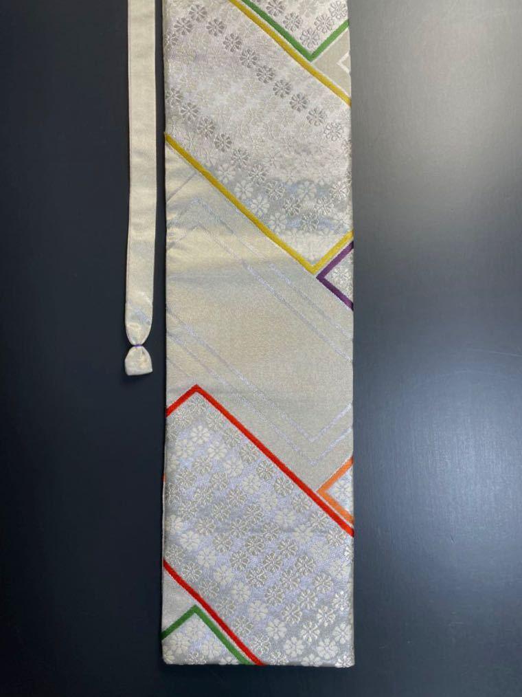 限定2本 日本刀 太刀 刀 刀袋 豪華 銀彩 華紋 刀袋 職人ハンドメイド 100%正絹使用 一点物 A-10_画像8