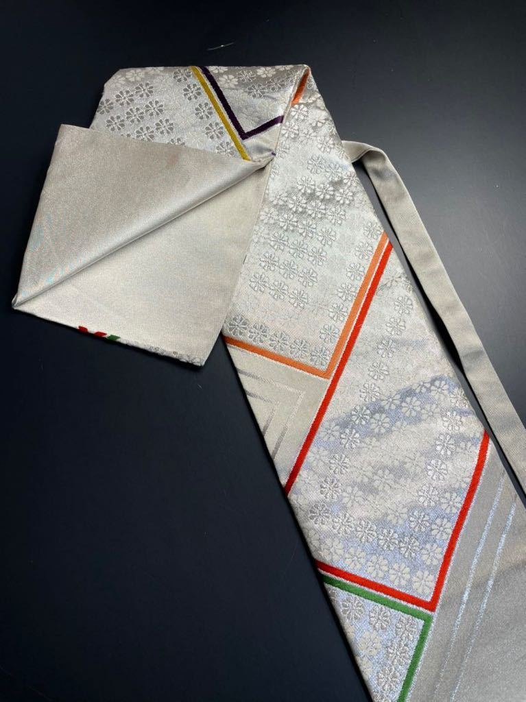 限定2本 日本刀 太刀 刀 刀袋 豪華 銀彩 華紋 刀袋 職人ハンドメイド 100%正絹使用 一点物 A-10_画像5