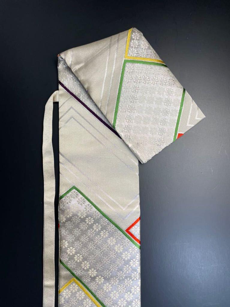 限定2本 日本刀 太刀 刀 刀袋 豪華 銀彩 華紋 刀袋 職人ハンドメイド 100%正絹使用 一点物 A-10_画像6