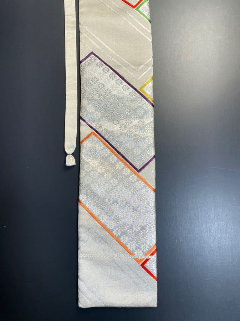 限定2本 日本刀 太刀 刀 刀袋 豪華 銀彩 華紋 刀袋 職人ハンドメイド 100%正絹使用 一点物 A-11_画像8