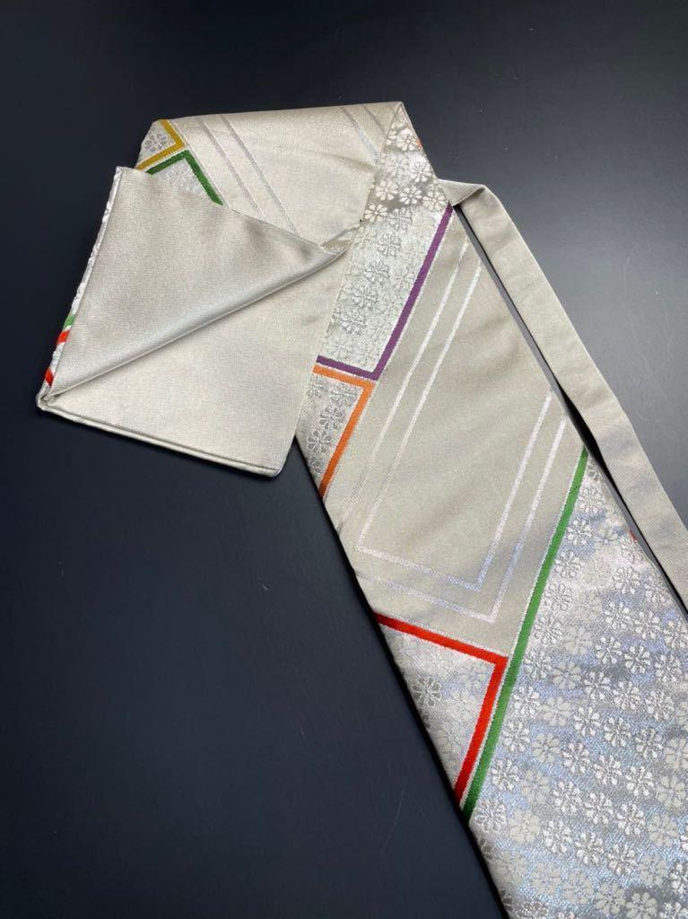 限定2本 日本刀 太刀 刀 刀袋 豪華 銀彩 華紋 刀袋 職人ハンドメイド 100%正絹使用 一点物 A-11_画像5