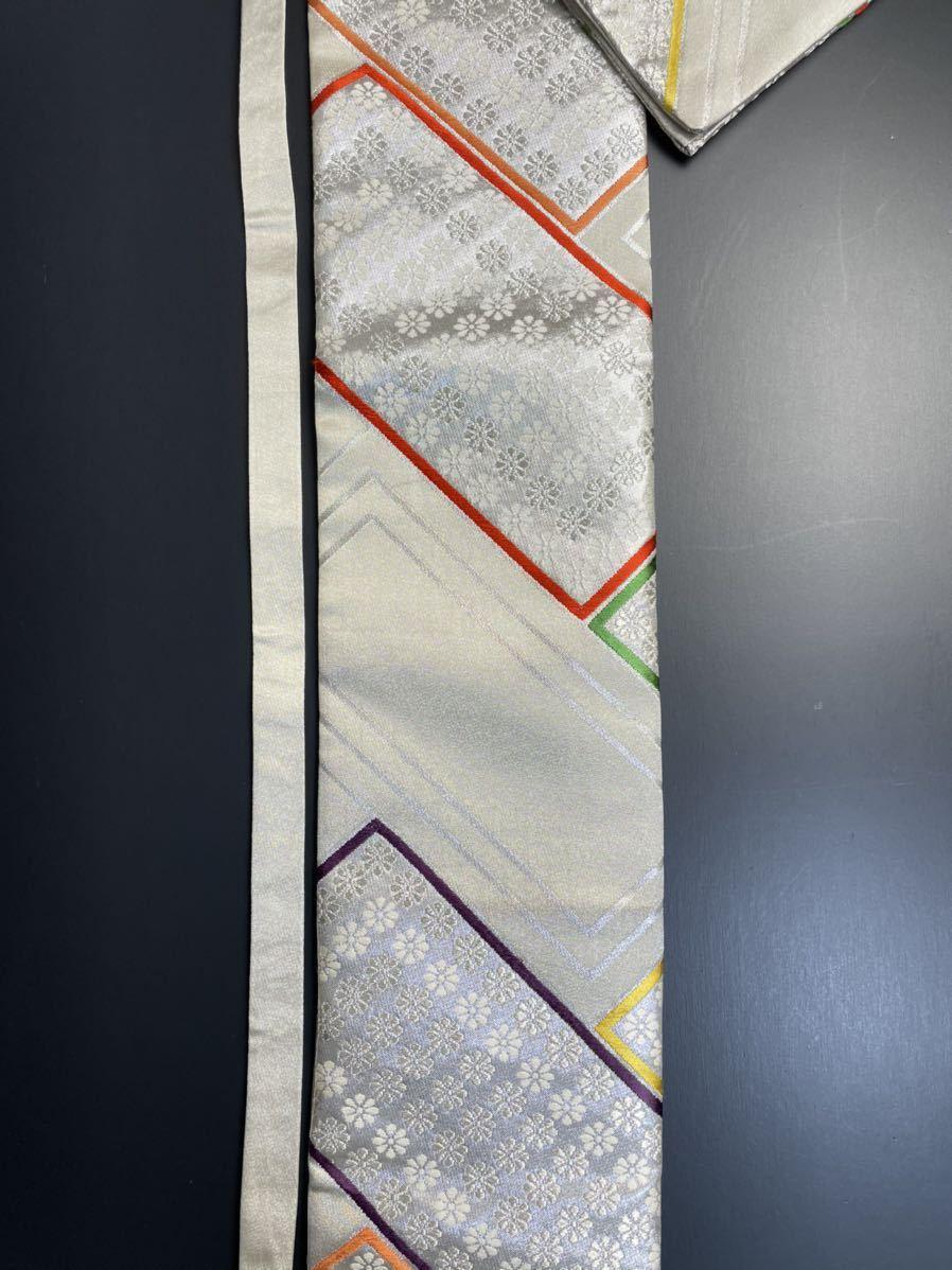 限定2本 日本刀 太刀 刀 刀袋 豪華 銀彩 華紋 刀袋 職人ハンドメイド 100%正絹使用 一点物 A-11_画像7