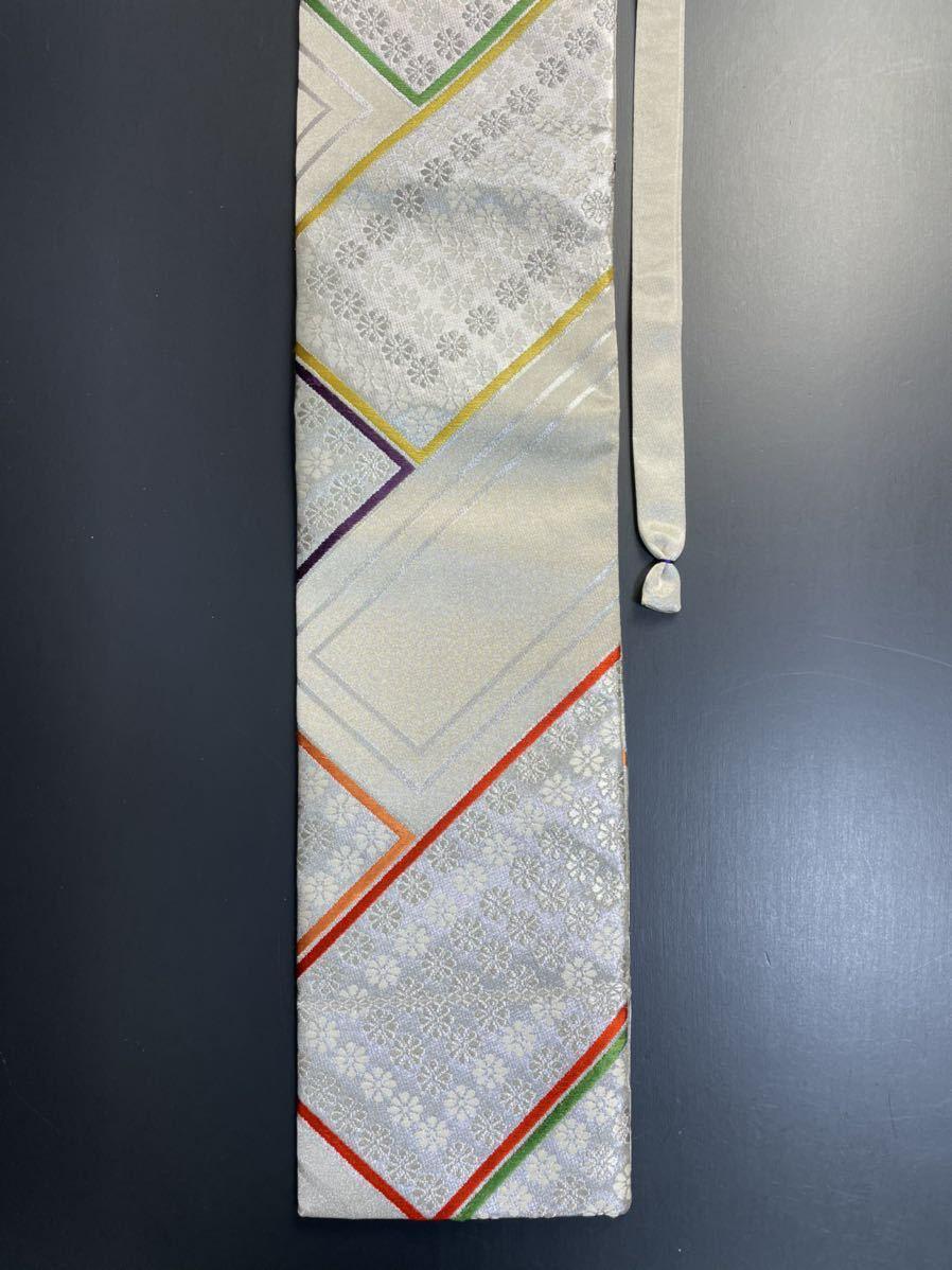 限定2本 日本刀 太刀 刀 刀袋 豪華 銀彩 華紋 刀袋 職人ハンドメイド 100%正絹使用 一点物 A-11_画像4