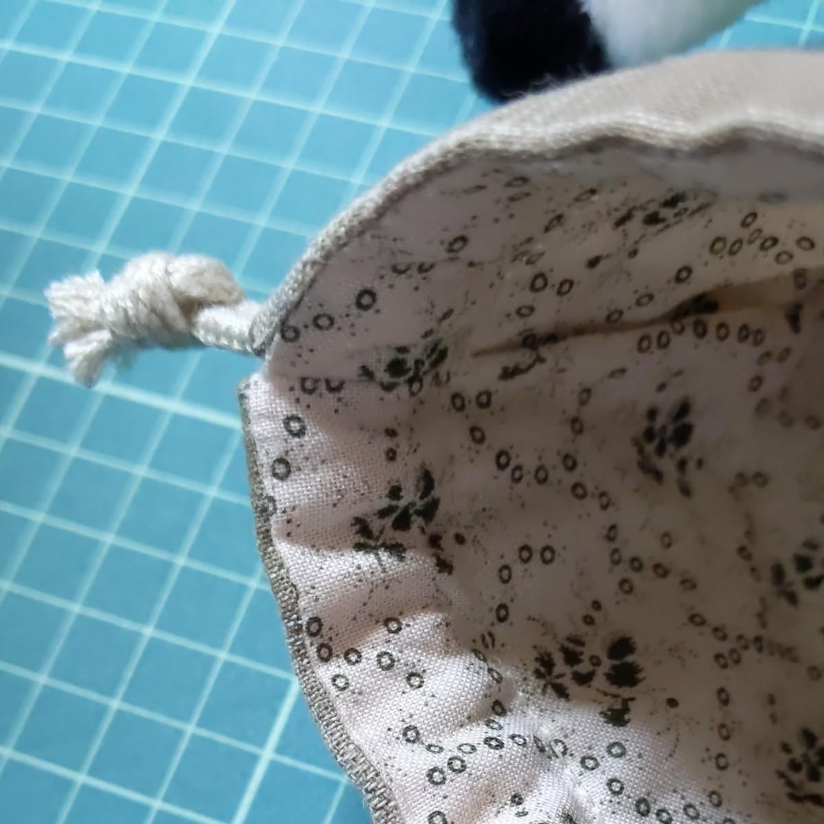 ハンドメイド マチ付きミニミニ 巾着袋