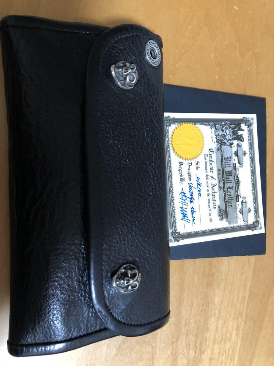 ビルウォールレザーBWL財布ウォレットグッドラックスカル