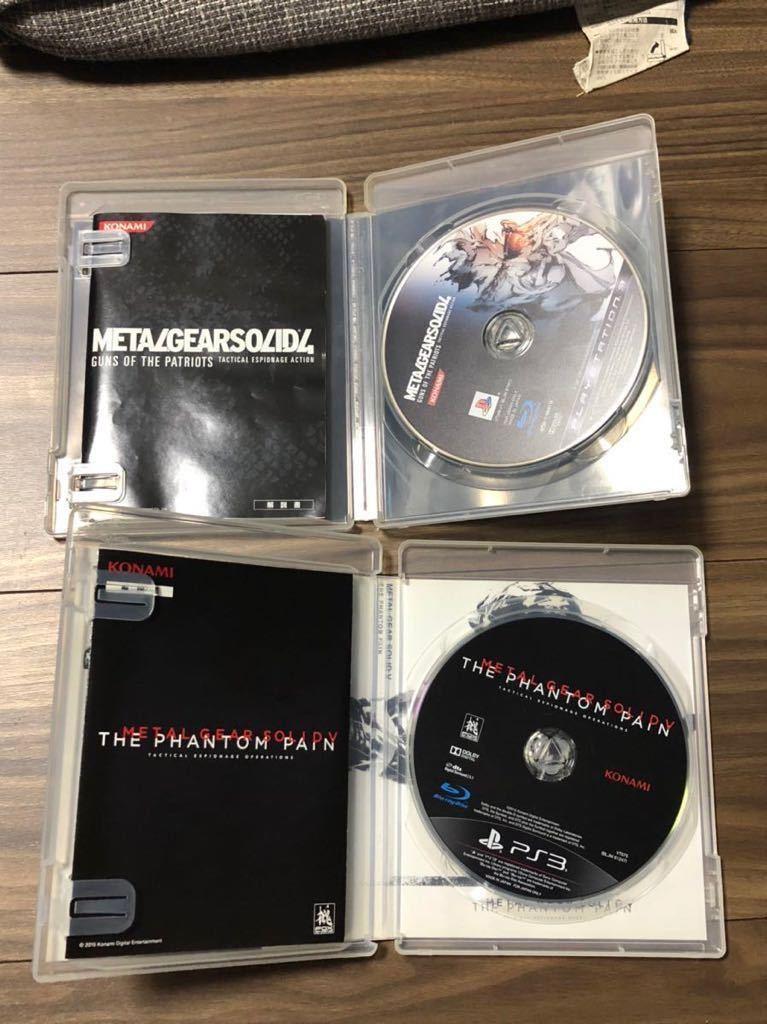 PS3 METAL GEAR SOLID メタルギアソリッド4 METAL GEAR SOLIDV THE PHANTOM PAIN 2本セット 中古同梱可 動作未確認
