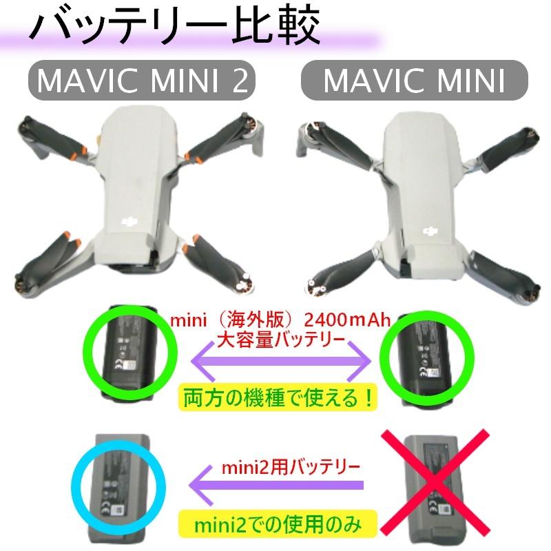 Mavic mini 2400mAh バッテリー 2本【バルク箱】DJI正規品 海外用 純正バッテリー mini2互換確認済み【使用カウント1回】RSプロダクト