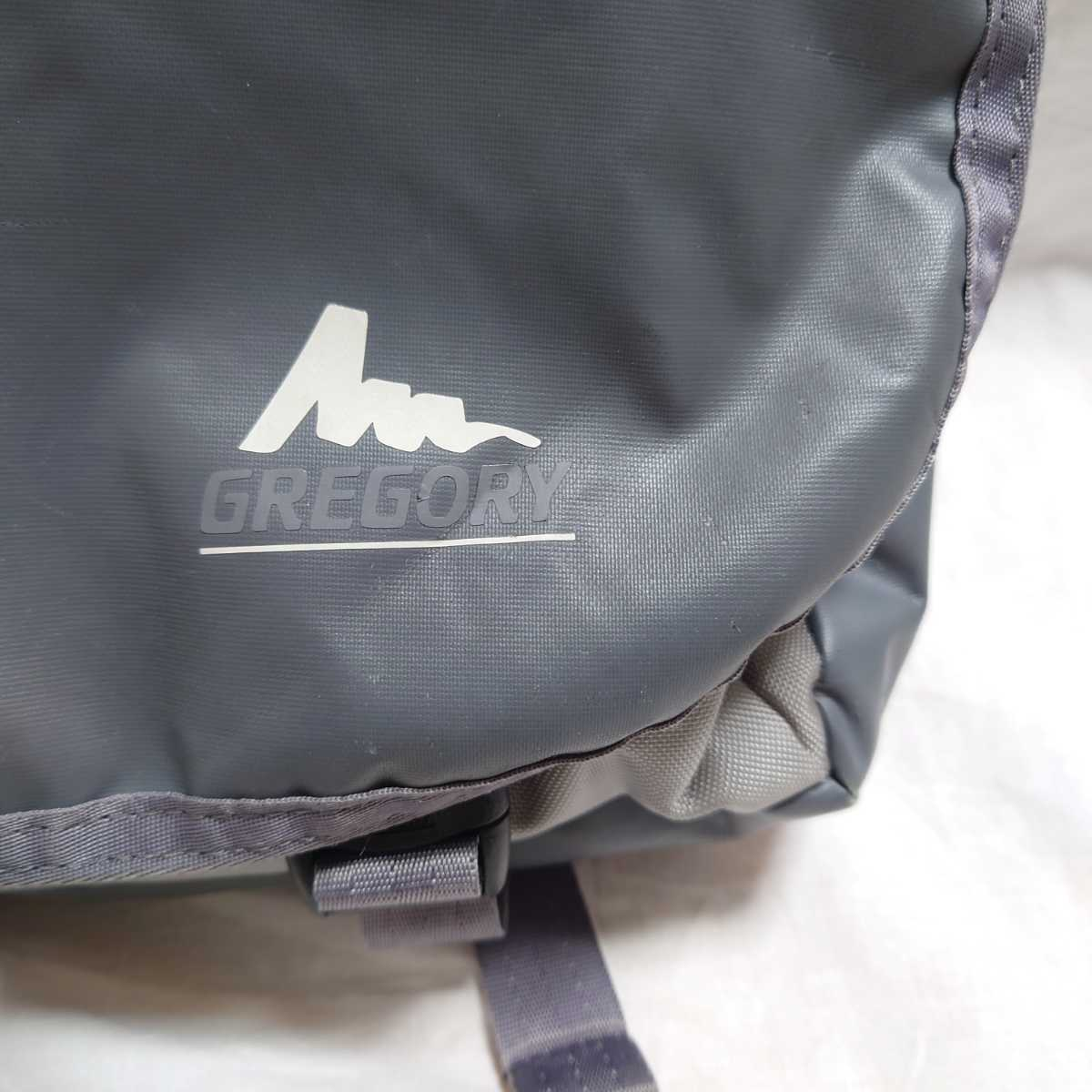 GREGORY グレゴリー メッセンジャーバッグ ショルダーバッグ エナメル グレー 灰色