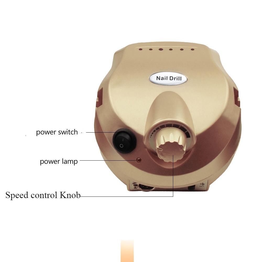 衝撃大特価SALE35000rpm 電動ネイルドリルファイルキットビットマニキュアペディキュアキットマシンサンディング ゴールド_画像1