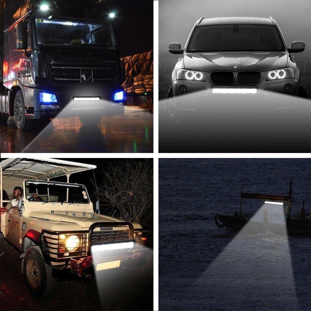 新 8 120w 車の Led ワークライトバー車スポットビームヘッドライトオフロード 4WD SUV ドライビングフォグランプボート_画像5