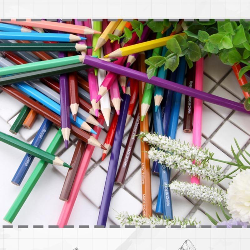 くるくるコンパクト♪ 72色 色鉛筆 セット ケース付 ペン スケッチ お絵描き 塗り絵 アート 子供 学生 芸術 美術 えんぴつ 文具 書_画像3