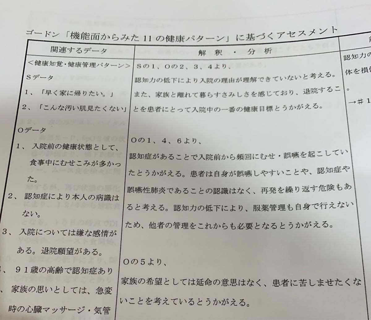 看護 付箋 ノート ★ ゴードン 看護過程 セット (^^)