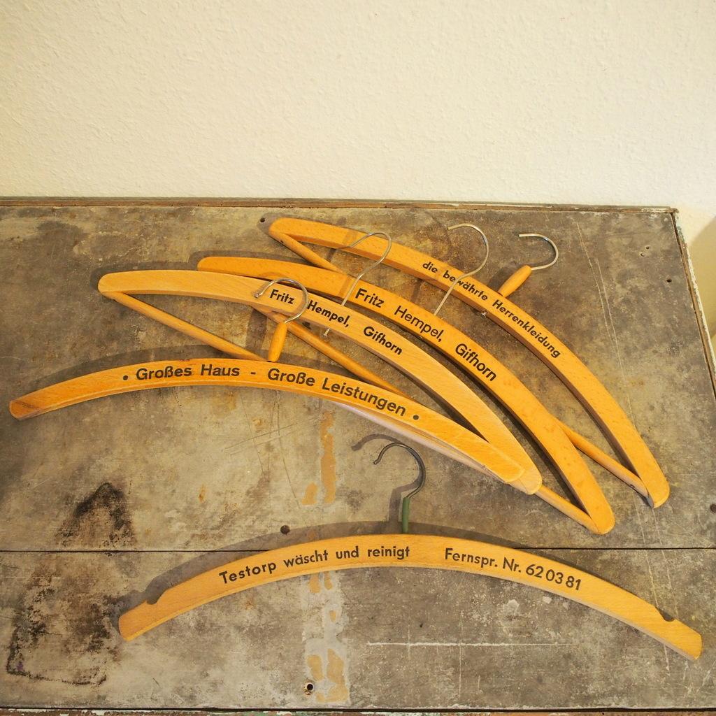 ヴィンテージ ドイツ 木製ハンガー 洋服掛け ハットラック コートハンガー壁掛け棚ミッドセンチュリー 店舗什器インダストリアル シャビー_画像1