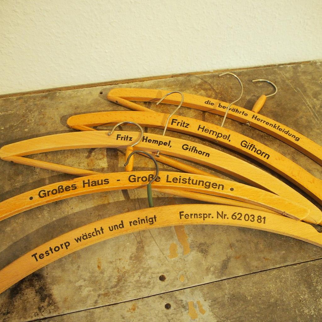 ヴィンテージ ドイツ 木製ハンガー 洋服掛け ハットラック コートハンガー壁掛け棚ミッドセンチュリー 店舗什器インダストリアル シャビー_画像3