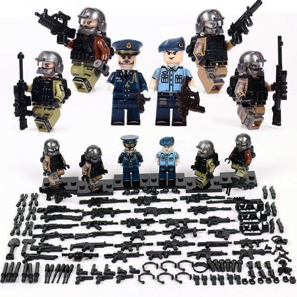 MOC LEGO レゴ ブロック 互換 ARMY ロシア軍特殊部隊 アンチテロ部隊 指揮官 カスタム ミニフィグ 6体セット大量武器・装備・兵器付き_画像1