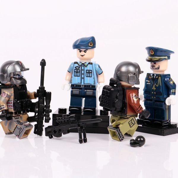 MOC LEGO レゴ ブロック 互換 ARMY ロシア軍特殊部隊 アンチテロ部隊 指揮官 カスタム ミニフィグ 6体セット大量武器・装備・兵器付き_画像4