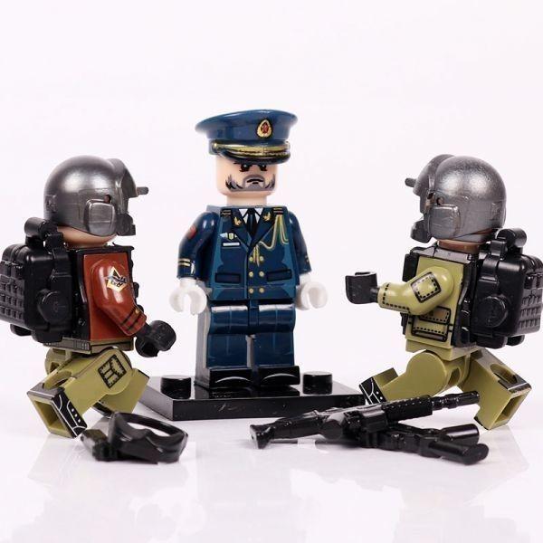 MOC LEGO レゴ ブロック 互換 ARMY ロシア軍特殊部隊 アンチテロ部隊 指揮官 カスタム ミニフィグ 6体セット大量武器・装備・兵器付き_画像5