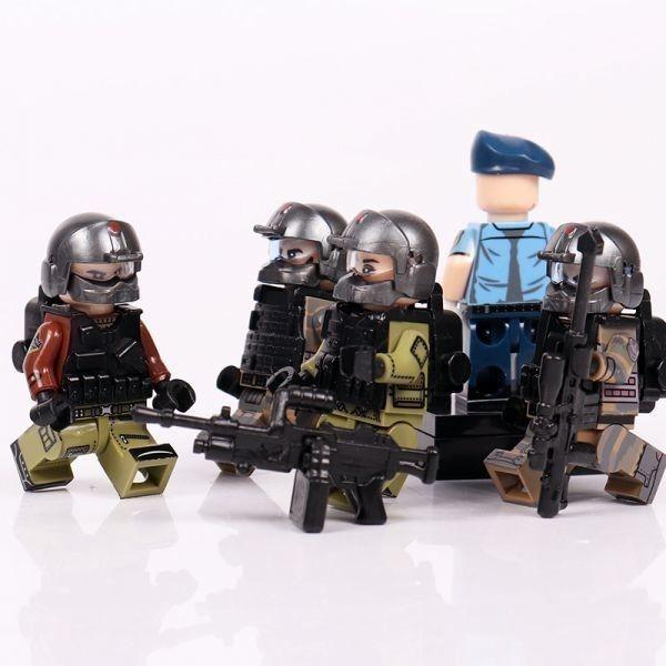 MOC LEGO レゴ ブロック 互換 ARMY ロシア軍特殊部隊 アンチテロ部隊 指揮官 カスタム ミニフィグ 6体セット大量武器・装備・兵器付き_画像6