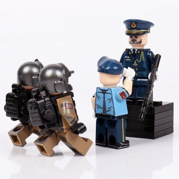 MOC LEGO レゴ ブロック 互換 ARMY ロシア軍特殊部隊 アンチテロ部隊 指揮官 カスタム ミニフィグ 6体セット大量武器・装備・兵器付き_画像7