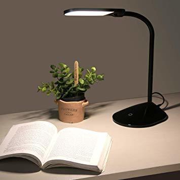2)ブラック アイリスオーヤマ LEDデスクライト 調色3段階 調光無段階 簡単操作 自由可動 フレキシブルアーム 角度調節可能_画像2