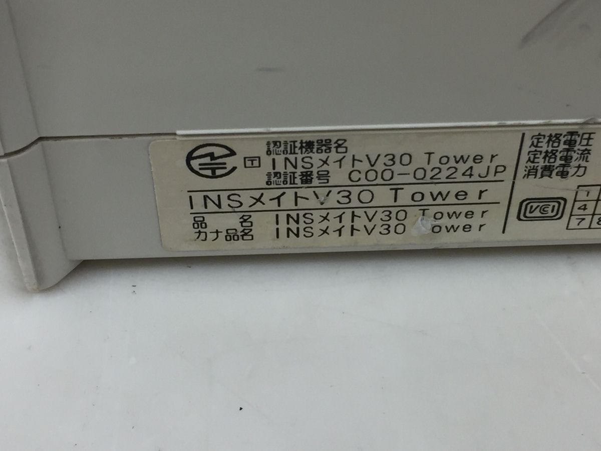 NTT東日本 ISDN ターミナルアダプタ INSメイト V30Tower 本体のみ (管2B7-N12)_画像4