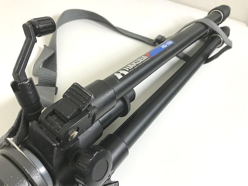 送料無料 ■ HAKUBA ハクバ HG-780 三脚 VELBON ベルボン PH-173 雲台 伸縮 撮影機材 カメラ用品 アクセサリ_画像9