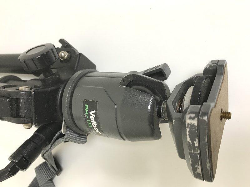 送料無料 ■ HAKUBA ハクバ HG-780 三脚 VELBON ベルボン PH-173 雲台 伸縮 撮影機材 カメラ用品 アクセサリ_画像8