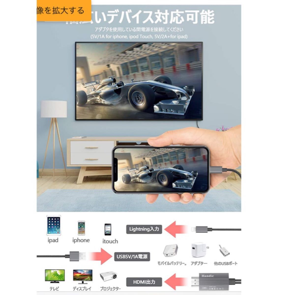 【新品 未使用】iphone HDMI 変換 ケーブル