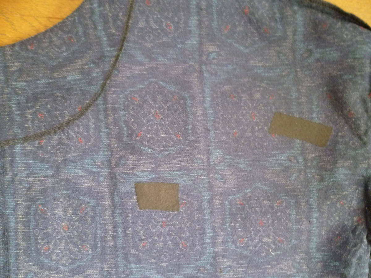 [送料無料] 訳アリ 虫食い修正 折り跡 ウール系着物リメイク ハンドメイド ワンピース ゆったり 両脇シームポケット付