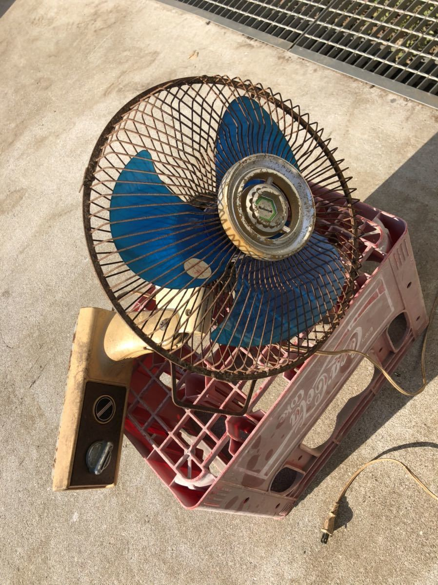 ナショナル 壁掛け扇風機 実働 昭和レトロ アンティーク当時_画像1