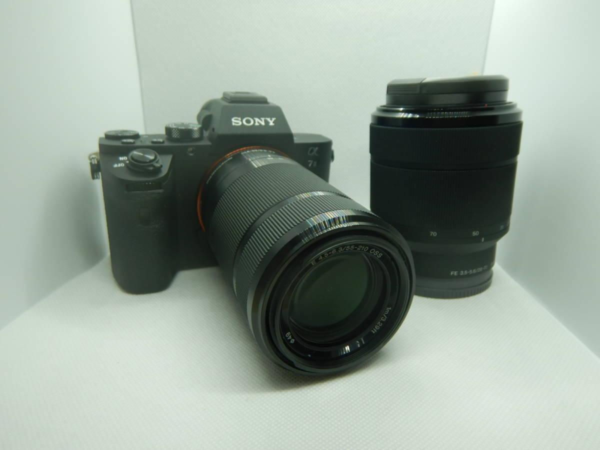 極上美品 レンズ2本付き SONY α7II a7II ILCE-7M2 55-210㎜ 28-70㎜ ソニーカメラ D-23