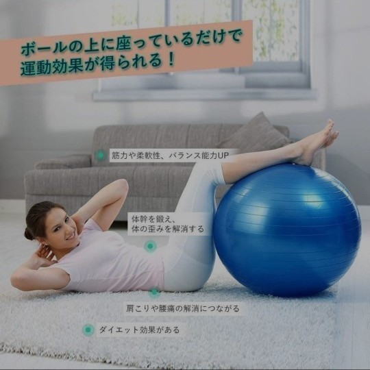 バランスボール ヨガボール 55cm