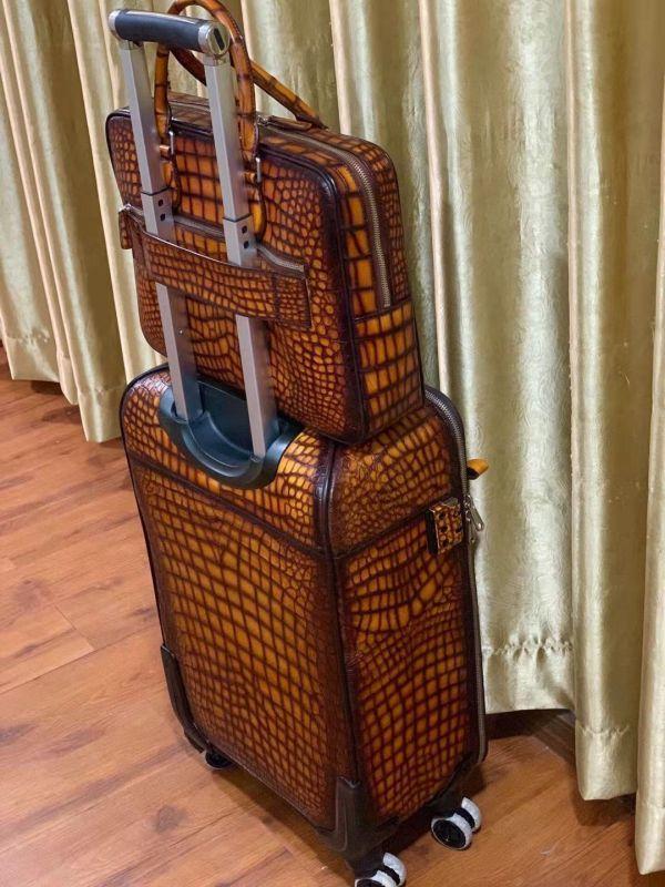 超人気 ワニ革保証 クロコダイル レザー 本革 手提げ ブリーフケース ビジネス トート メンズ ハンドバッグ 通勤用 出張用 鞄 A4/PC対応_画像7