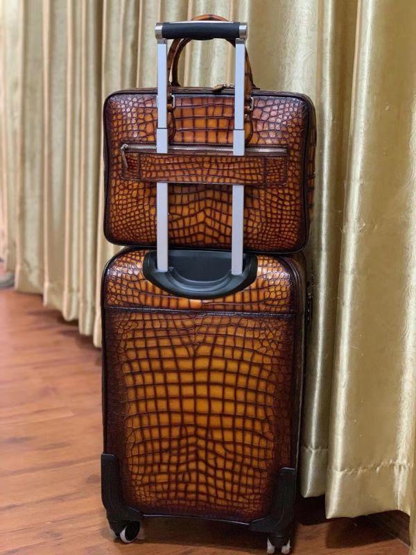 超人気 ワニ革保証 クロコダイル レザー 本革 手提げ ブリーフケース ビジネス トート メンズ ハンドバッグ 通勤用 出張用 鞄 A4/PC対応_画像3