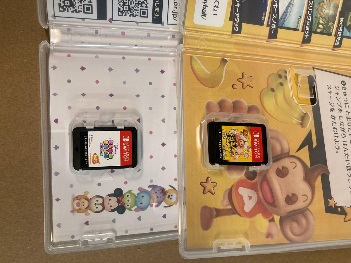 Switchソフト 2本セット ディズニーツムツムフェスティバル たべごろスーパーモンキーボール
